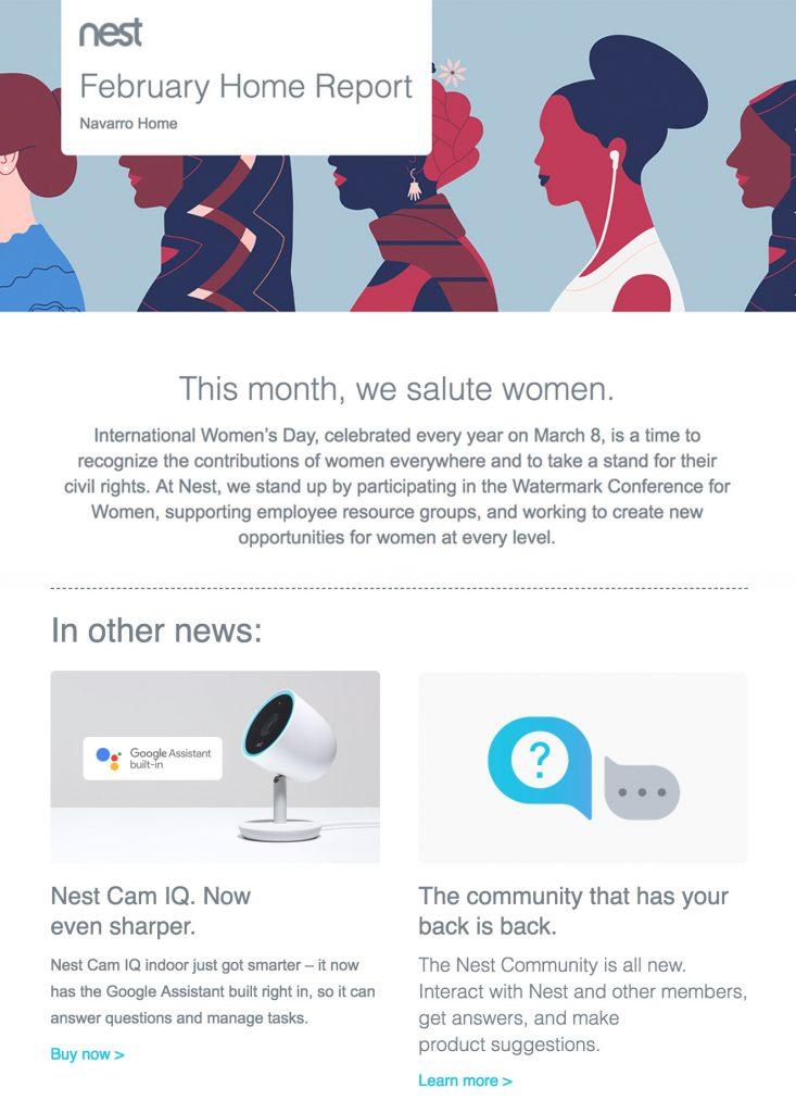 Nest email newsletter