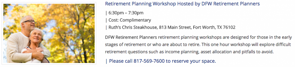 Retirement Planning Workshop